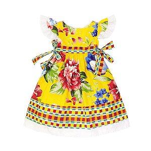 Vestido São João Floral  - Té Confecções