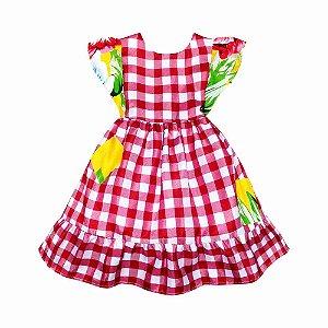Vestido Xadrez Festa Junina - Té Confecções