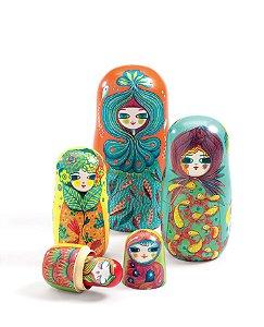Matrioskas em Madeira Meninas - Djeco