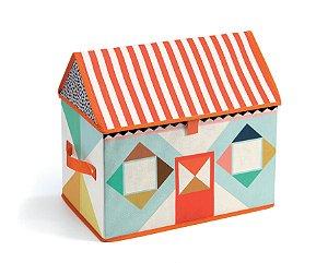 Caixa Organizadora de Brinquedos Casa Multicolor - Djeco