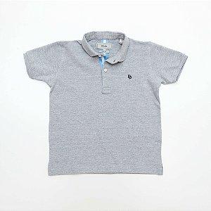 Camisa Polo Infantil Cinza - Dudes