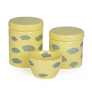 Kit Higiene Nuvem Amarelo - Modali Baby