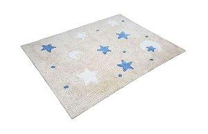 Tapete Infantil Sky Bege Azul/Branco - Nina & Co.