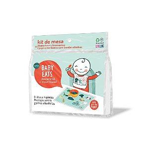 Kit Jogo Americano e Babador Descartáveis - Baby Eats Likluc