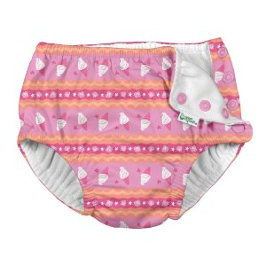 Calcinha de Piscina Sorvete Pink com Fralda Embutida FPS 50+ - IPlay