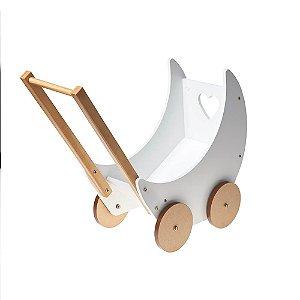 Carrinho de Boneca Branco - Bup Baby