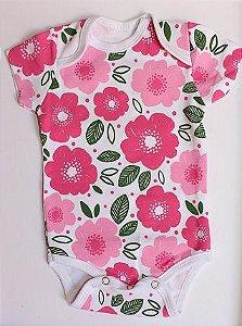 Body Flores para bebê