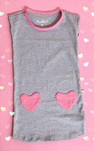 Vestido Mescla Coração
