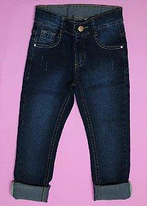 Calça Jeans com Cintura Ajustável - fem