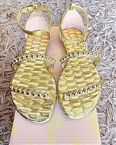 Sandália gold/dourada