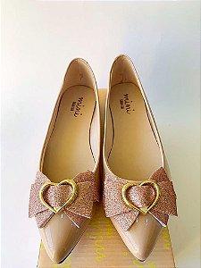 Sapatilha glitter/rose