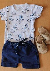 Conjunto blusa + short Anjos baby