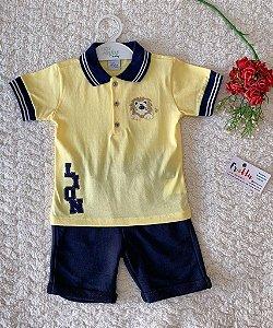 Conjunto blusa + short com detalhe Anjos baby