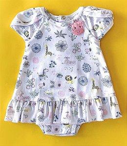 Vestido com detalhes/animais Anjos baby