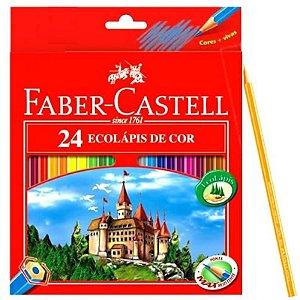 Lápis de cor 24 cores - 120124 - Faber-Castell