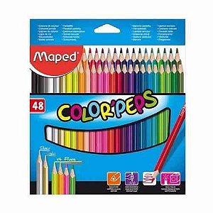 Compartilhe    Lápis de cor Color Peps 48 cores - 832048 - Maped