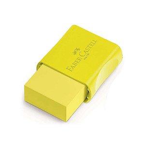Borracha Com Capa Plástica Neon Amarela Faber Castell