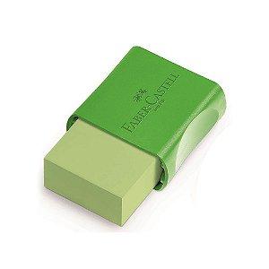 Borracha Com Capa Plástica Neon Verde Faber Castell