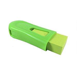 Apontador com Depósito e Borracha Mix Neon Verde - Faber Castell