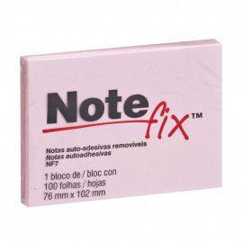 Bloco Adesivo 76x102mm Notefix ROSA pct com 100 folhas 3M