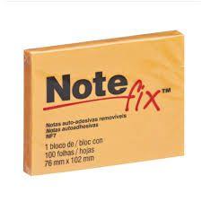 Bloco Adesivo 76x102mm Notefix Laranja pct com 100 folhas 3M