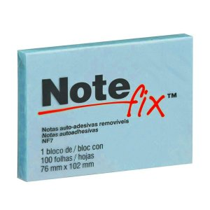 Bloco Adesivo 76x102mm Notefix Azul pct com 100 folhas 3M