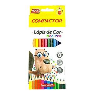 Lápis De Cor Compactor Neo-Pen C/12