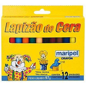 Lapisão de cera escolar 12 cores