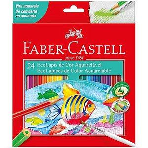 Lápis de cor 24 cores aquarelável  Faber Castel