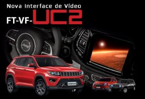 Interface Desbloqueio De Tela Jeep Renegade / Compass e Fiat Argo / Toro Faaftech FT-VF-UC2