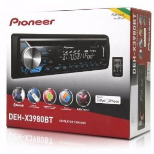 CD Player Automotivo Pioneer DEH-X3980BT Mixtrax - USB, Aux e Bluetooth