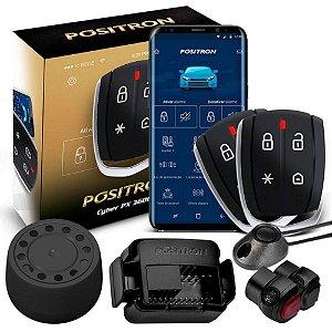 Alarme Automotivo Pósitron Cyber PX360BT Bluetooth Universal Bloqueio e Desbloqueio Via Celular