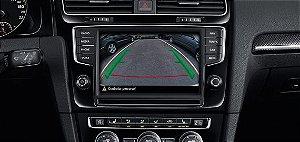 Kit Câmera de Ré linha VW / Novo Polo / Virtus / Fox / Golf MK-7 / Jetta / Tiguan / Familia Gol / Voyage / Saveiro-G6