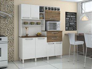 Armário de Cozinha Compacta Monte Rey 7 PT 2 GV - Valde Moveis