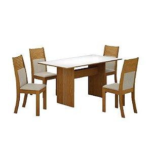 Mesa de Jantar 4 Cadeiras Florença - Leifer