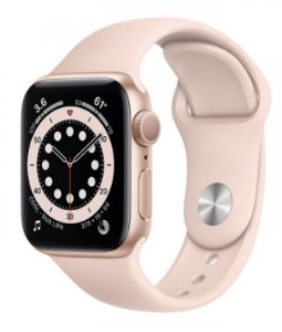 Watch Series 6 44mm Caixa Dourada de Alumínio com Pulseira Areia-Rosa Esportiva: Modelo Cellular