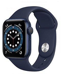 Watch Series 6 44mm Caixa Azul de Alumínio com Pulseira Azul Esportiva: Modelo GPS