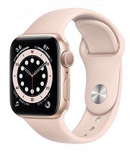 Watch Series 6 40mm Caixa Dourada de Alumínio com Pulseira Areia-Rosa Esportiva: Modelo GPS