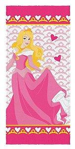 Toalha Banho Infantil Princesas - Aurora