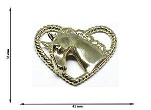Pingente Cabeça de Cavalo 3D Coração