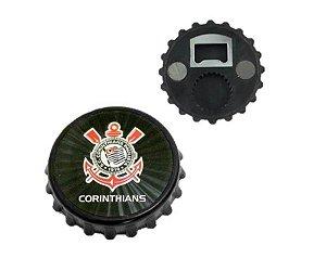 Abridor de Garrafa com Imã Corinthians
