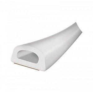 Veda Frestas Adesivas Grandes em D 6x9mm Branco 6 Metros para Portas e Janelas Comfortdoor