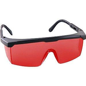 Óculos de Proteção Vermelho Visualização Laser para Nível Esquadro Foxter Vonder