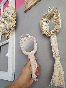 Espelho de mão ou Parede Rustico
