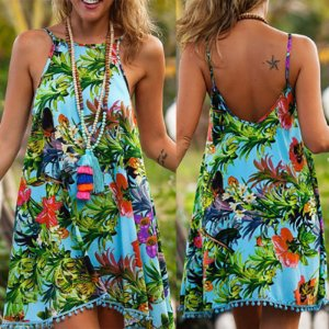 Vestido Soltinho Estampa Floral Tropical