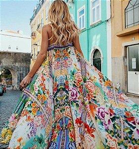 Vestido Longo Estilo Boho Floral Deslumbrante