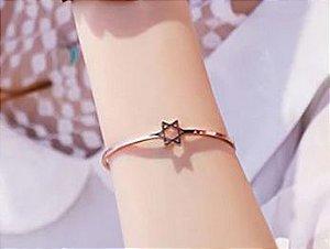 Bracelete Céu Estrelado Estrela Rose Joia Rara