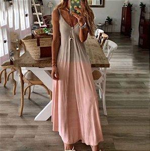 Vestido Longo Praiano Tie Dye Degradê