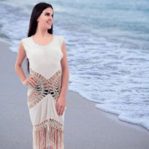 Saída de Praia Traçado Mandala com Franjas