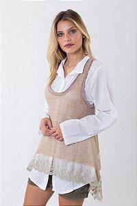 Regata Delicada com Renda + Camisa Branca